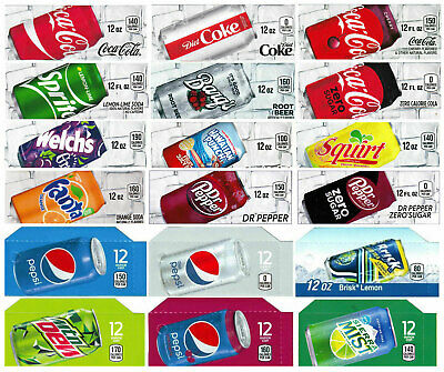 18 Flavor strips  Coke, Pepsi, fits Dixie Narco, Vendo for soda vending machines