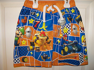 Super Mario Donkey Kong Multi Character Swim Board Shorts Trunks Boys Size 4 NWT
