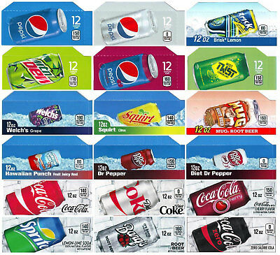 18 Flavor strips for Coke, Pepsi, fits Dixie Narco, Vendo, soda vending machines