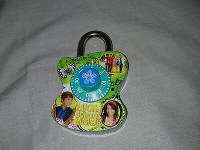 High School Musical Disney Combination Lock For Lockers Or Other Things New