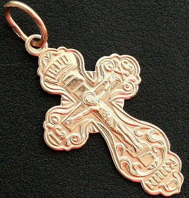 NEW CLASSIC RUSSIAN ORTHODOX CROSS. GOLD 14K-585 . NEW 2.6g QUICK SALE PRICE !!!