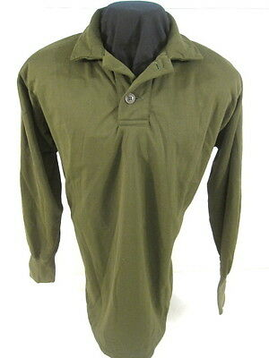 post-Vietnam US Army Man's Sleeping Shirt, OG-106 Tricot Knit - Size Medium