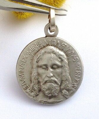 """925 Sterling Silver """" Holy Face """" Medal - Masterpiece Of Italian Art"""