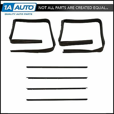 Front Window Sweep & Run Channel Seal Kit Set for GMC Chevy Blazer Pickup Truck
