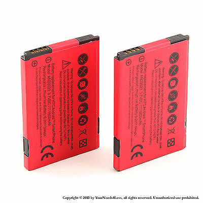 2x 1800mAh battery for HTC Droid incredible 6300; HTC TOUCH PRO2 T7373