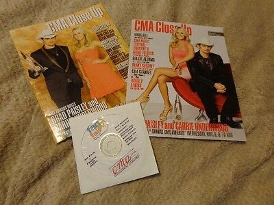 Brad Paisley/Carrie Underwood *2 Mag Covers+2001 Fan Fair Liners CD/Lonestar+!