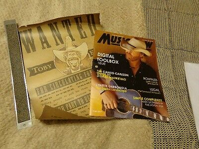 Toby Keith *Parchment Wanted Poster+2013 Music Row Magazine Cover!