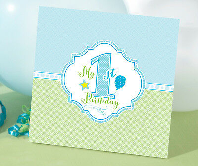 Baby Blue 1st Birthday Memory Book Baby Shower Gift First Birthday Keepsake
