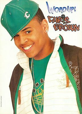 "CHRIS BROWN - 11"" x 8"" MAGAZINE PINUP - CLIPPING - MINI POSTER - 2008 - 29"