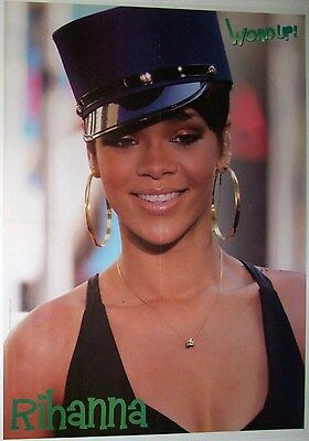 """RIHANNA - SCOOTER - 22"""" x 16"""" MAGAZINE POSTER - DOUBLE SIDED - 2009 - 32"""