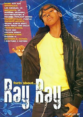 """RAY RAY - MINDLESS BEHAVIOR - 11"""" x 8"""" PINUP - CLIPPING - MINI POSTER - 2011 - 1"""