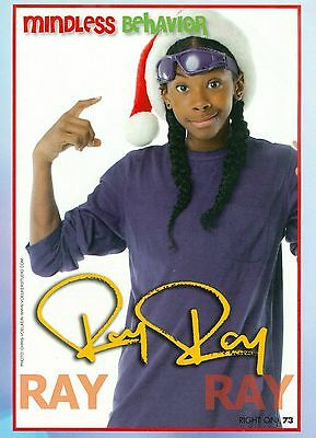 """RAY RAY - MINDLESS BEHAVIOR - 11"""" x 8"""" PINUP - CLIPPING - MINI POSTER - 2011 - 9"""