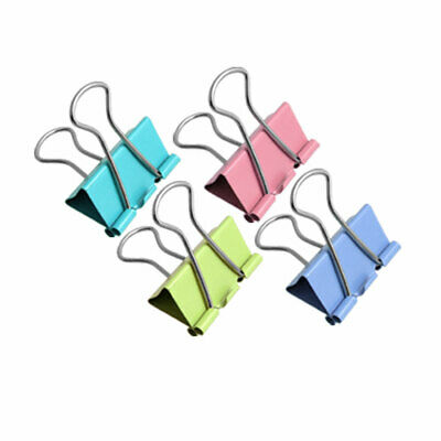 24 Pcs Metal Office Document Paper Organize Binder Clip