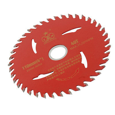 Red 110mm x 20mm 40T Disc Cutting Tool Slitting Saw