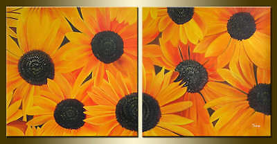 Yuhong Daisy Garden hand painted Floral oil painting bestbid_mall D543