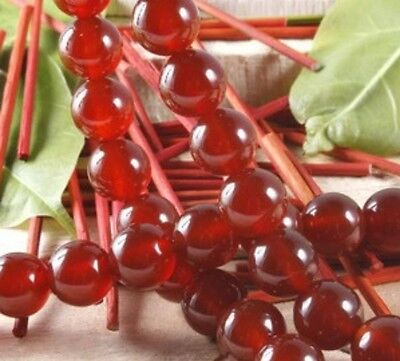 """8mm Red Ruby Round Loose Beads Gemstone 15""""AAA+"""