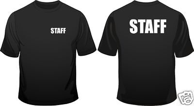 Staff Work Wear Crew Neck Mens Loose Fit Cotton T-Shirt