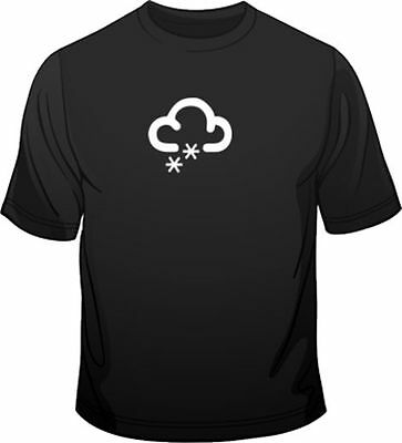 Weather Symbol Snowing Mens Loose Fit Cotton T-Shirt