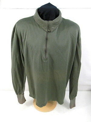 post-Vietnam US Army Man's Sleeping Shirt OG-106 w/Zippered Neck - Size Large