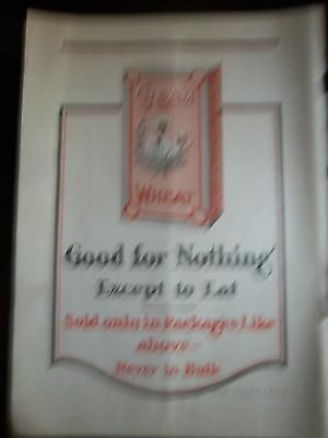 1916 Cream of Wheat Cereal Rastus on Box Color Original Vintage Ad