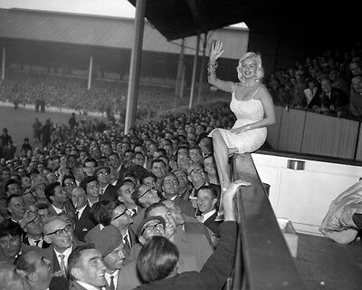 Jayne Mansfield at White Hart Lane 1959 10x8 Photo