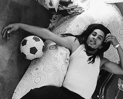 Bob Marley Awesome on Bed BW 10x8 Photo