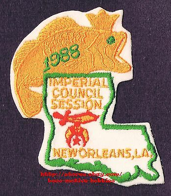 """LMH PATCH Badge  1988 SHRINE TEMPLE Shriners  IMPERIAL COUNCIL New Orleans LA 4"""""""
