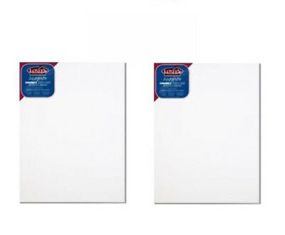 3 x A3  SIZE ARTIST ASHGATE STRETCHED PRIMED BLANK BOX COTTON CANVAS ACMA3