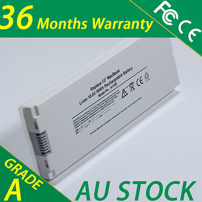 """New Battery for Apple MacBook 13"""" inch A1181 A1185 MA561 MA566 Laptop White"""