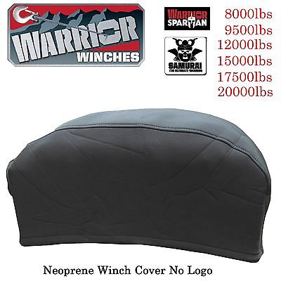 Warrior Neoprene Winch Cover - 6,000 to 20,000lb Winch no logo XL extra strong