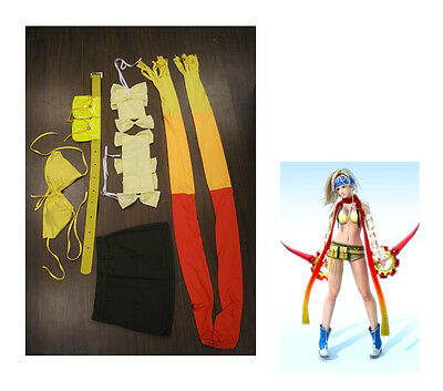 2PCS COMPLETE Rikku Costume Cosplay from Final Fantasy X2 SIZE EXTRA LARGE