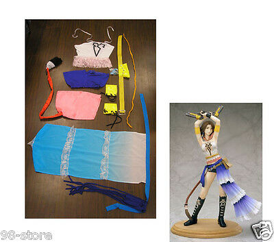 2PCS Halloween Complete Gunner Yuna Costume Cosplay Final Fantasy X2 SIZE XL