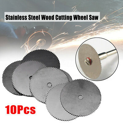 10PCS 22mm Stainless Steel Wood Cutting Wheel Saw Disc Mini Rotary Tool Craft