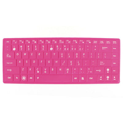 """Fuchsia Soft Silicone Laptop Keyboard Skin Protector Film for Asus 14"""""""