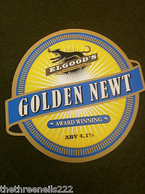 Beer Pump Clip - Elgood's Golden Newt