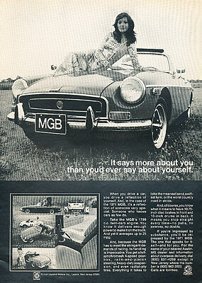 1971 MG MGB Says More Classic Vintage Advertisement Print Ad - G11