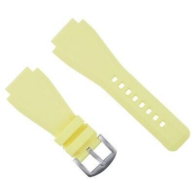 24Mm  Rubber Strap/Band For Bell Ross Watch Yellow Br-01-Br-03 Brh