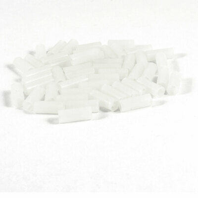 PCB Board White Cylinder Shape Nylon 66 LED Spacer Support 5mm x 13mm 50 Pcs