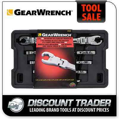 GearWrench 5 Pc. SAE Imperial Ratcheting Flex Flare Nut Spanner Set - 89100