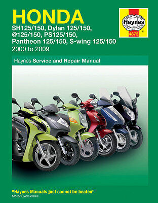 Haynes 4873 Workshop Repair Manual Honda 125 Scooter Ses Nes Fes Sh Pes 00 - 09