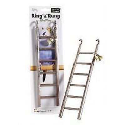 Sharples n Grant Ruff n Tumble Ring a Rung Bird Toy 6 Rung Ladder & Bell 28cm