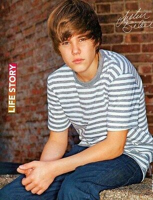 """JUSTIN BIEBER - 11""""x9"""" PINUP - CLIPPING - MINI POSTER - DOUBLE SIDED - 2010 - 22"""