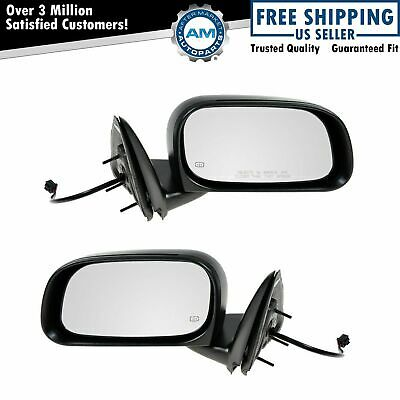 05-11 Dakota Pickup Truck Power Fixed Rear View Mirror Left Right Side SET PAIR
