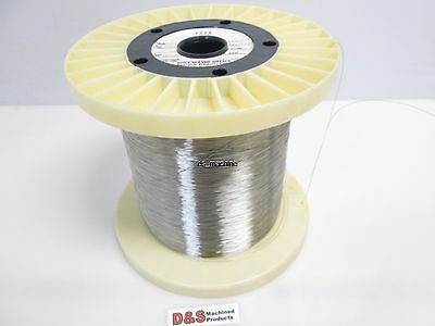 "Fort Wayne Metals 304V Stainless Steel Wire 0.012"" Diameter Approx. 25,000FT"