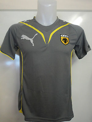 Aek Athens Grey Performance Tee By Puma Adults Size Large Brand New With Tags