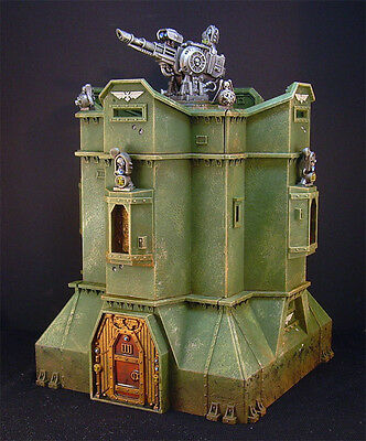 Warhammer 40K Scenery Imperial Bastion Painted