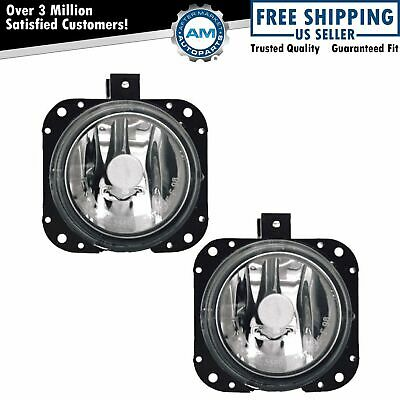 Fog Driving Lights Lamps Left & Right Pair Set NEW for Mitsubishi Eclipse Galant