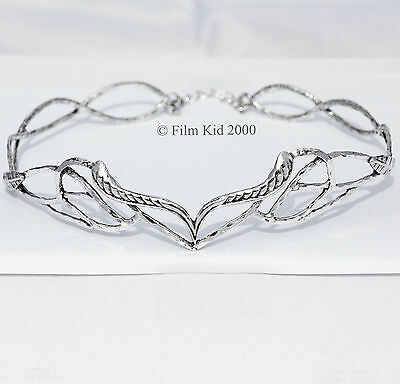 Elven Leaf Crown Elrond Lotr Antique Silver Lord Of The Rings Hobbit * 2 Sizes *