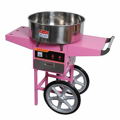 Commercial Cotton Candy Machine Kit Electric 1030w Floss Maker With Cart Party