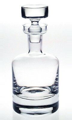 CRYSTAL GLASS WINE WHISKY SHERRY DECANTER 75cl Lead Free Fine Quality ENGRAVED